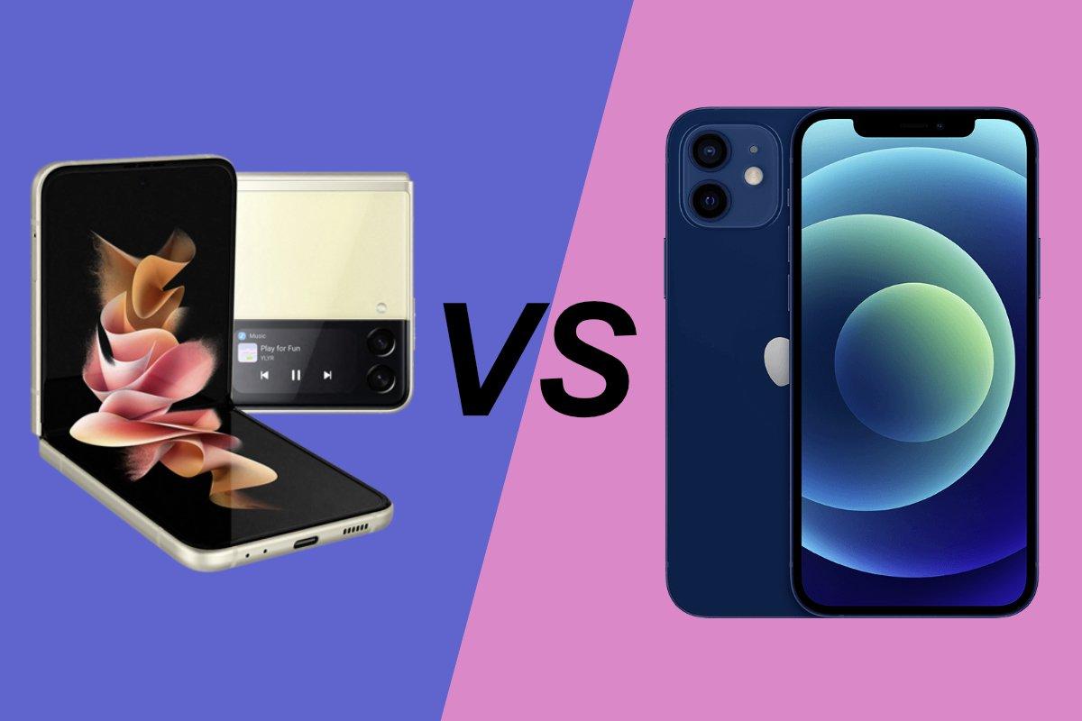 Samsung-Galaxy-Z-Flip-3-vs-iPhone-12