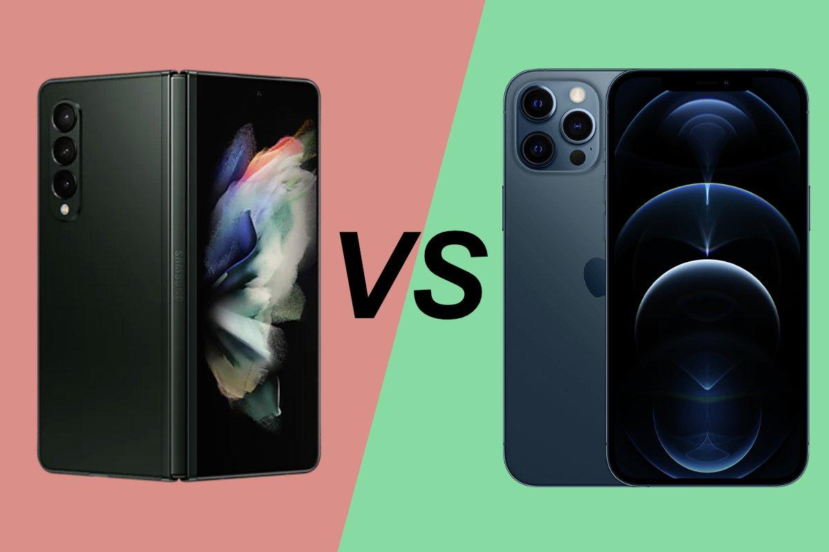 Samsung-Galaxy-Z-Fold-3-vs-iPhone-12-Pro-Max