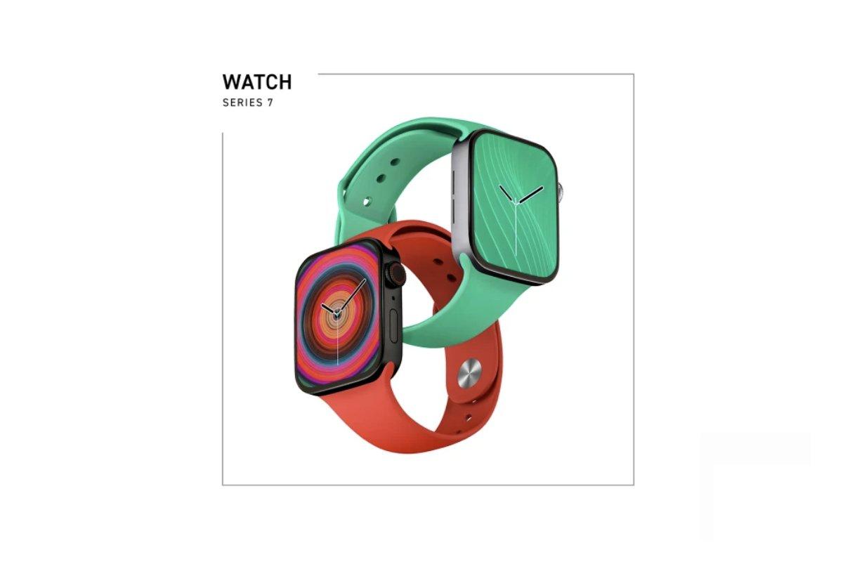 Apple Watch Series 7 featured smartwatch renders