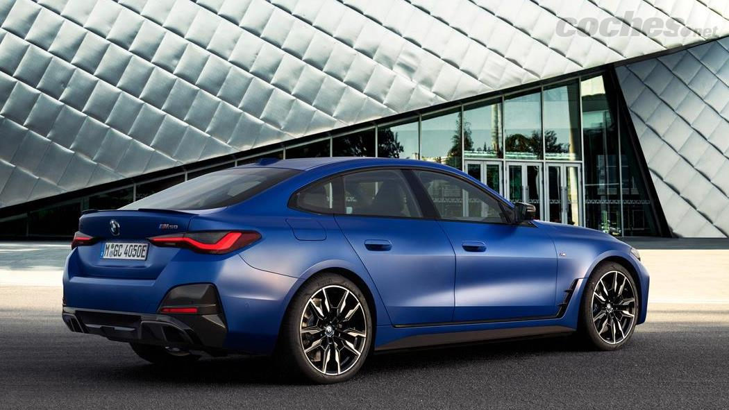 BMW i4 - La BMW i4 M50 est comparable en termes de conception et de technologie de châssis à n'importe quelle version M avec un moteur conventionnel, bien qu'elle dispose de deux moteurs électriques, un par essieu.
