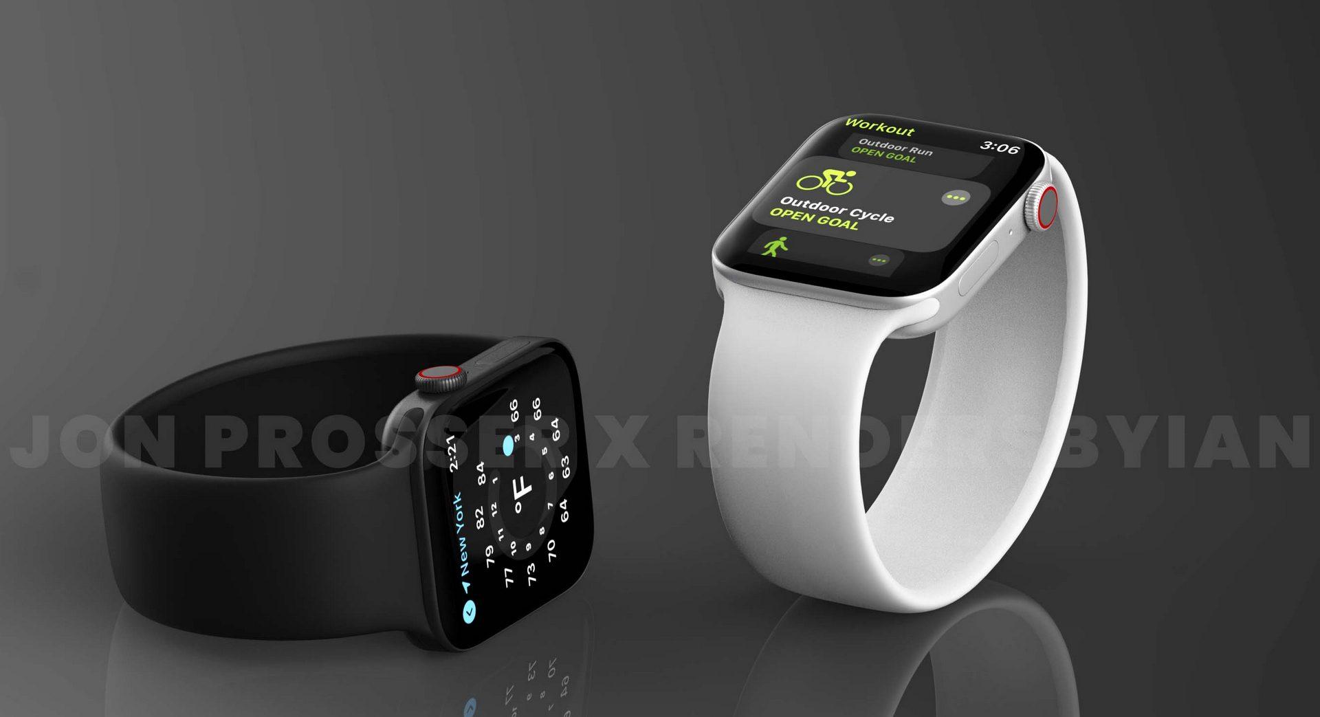 Apple Watch Series 7 jon prosser silver black