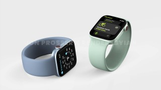 Apple Watch de la série 7 de rendu (Source: @RendersbyIan)