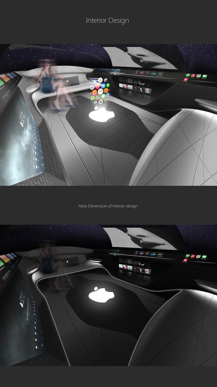 Apple Car 2076, intérieur