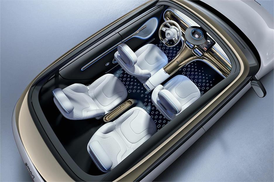 SMART forfour - La version de production aura cinq sièges avec un intérieur très spacieux et spacieux.