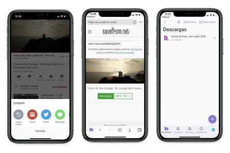 Télécharger des vidéos iOS