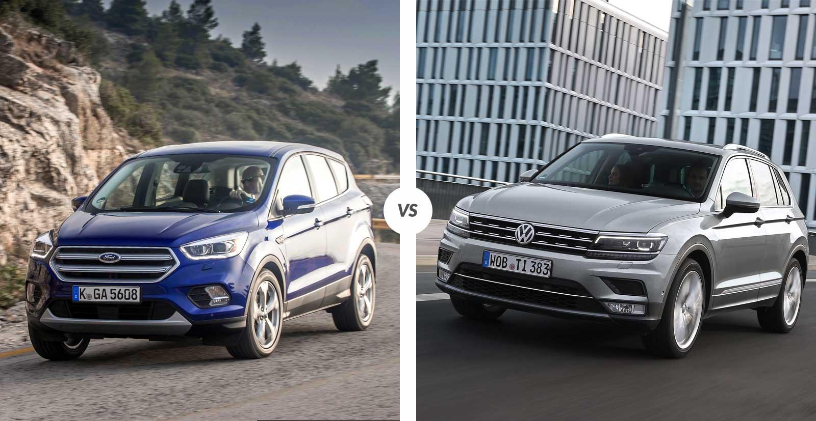 Comparaison : Ford Kuga vs Volkswagen Tiguan
