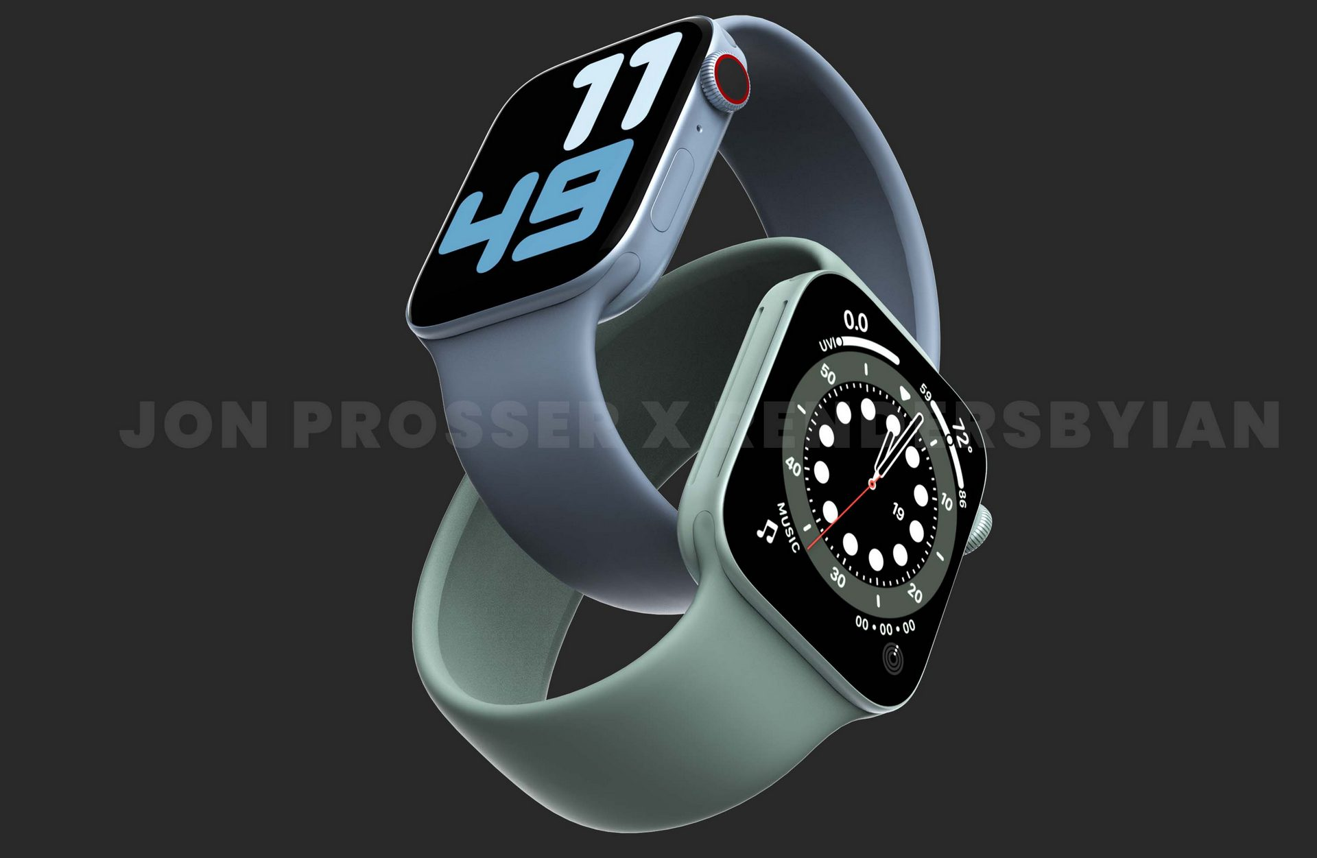 Apple Watch Series 7 jon prosser blue green