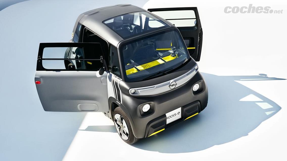 OPEL Adam - Certes, à première vue, l'Opel Rocks-e ressemble à une boîte à roues.